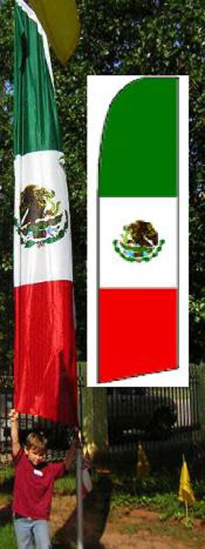 tall Mexico swooper flag is Size is 2.5-feet by 11-feet 837744