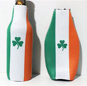 with bottle and empty Flag of Ireland insulated bottle jacket 882690