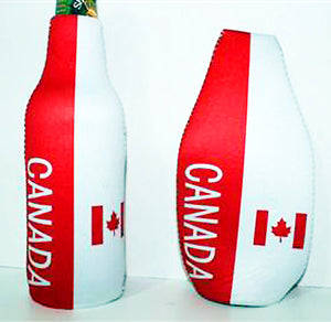 Canadian flag insulated bottle holder koozie 882713