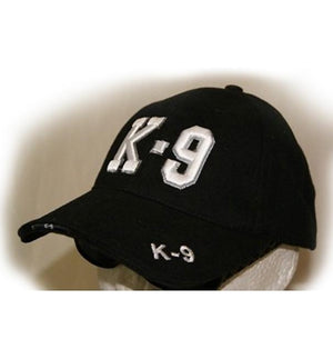 Black K-9 Officer Cap