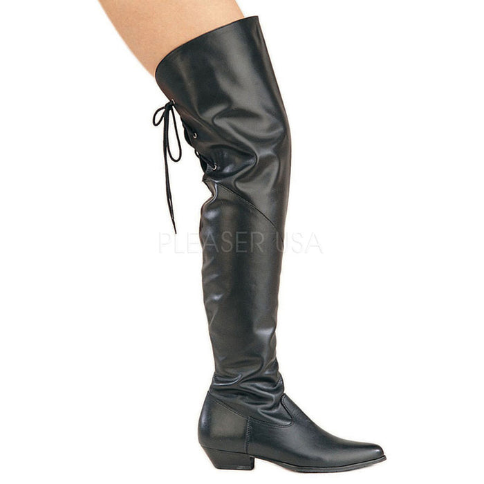 Thigh High Boots 1-inch Heels 8822