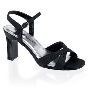 Black sandal shoes with 3.25-inch block heels Romance-313