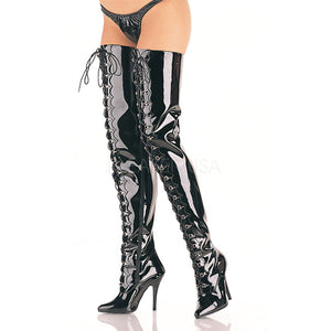 D-ring crotch boots with 5-inch heels Seduce-4026