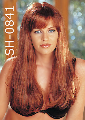 glamour girl wig of long straight hair in copper color 841