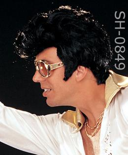 Elvis wig rock and roll pompadour hair style 849