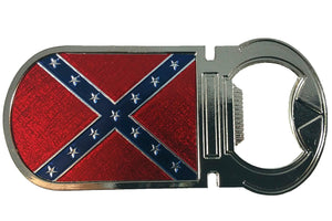 Rebel flag stainless steel bottle opener magnet  RBOP-1