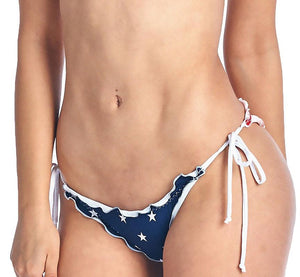USA American Flag Ruffle Bikini 2-pc Set