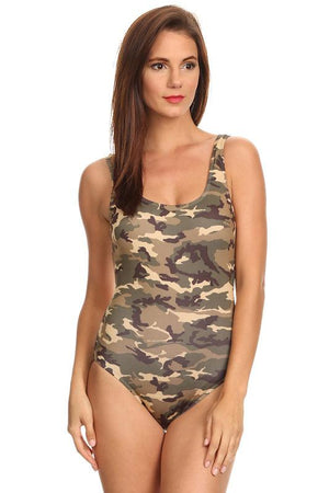 Camouflage women's one-piece swimsuit ST810