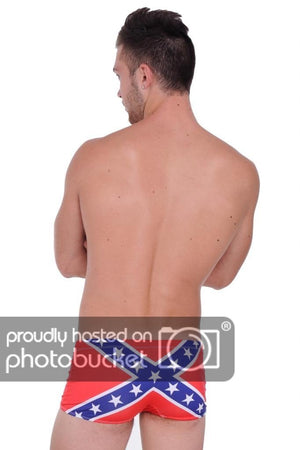 Rebel Confederate Flag Men's Swimsuit Briefs