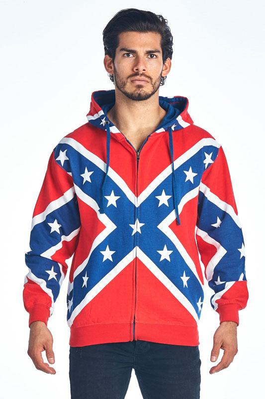 83ecd7bb02 ST-ZRF Rebel Flag Zipper Hoodie, Confederate Flag Sweatshirt ...