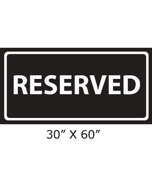 Black and white RESERVED beach towel 150