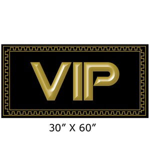 Black and gold elite VIP beach towel 30x60-inch  176
