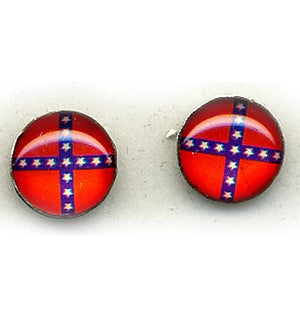 WC-ER105 Rebel Flag Stud Earrings