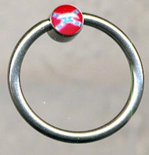Rebel flag 8mm circle hoop body jewelry BJ52