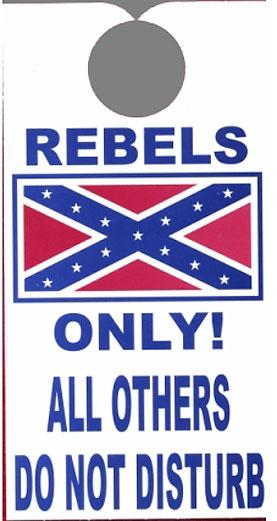 WC-REBDKH Rebel Flag Door Knob Hanger