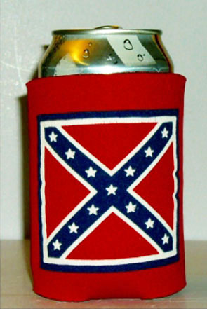 Confederate flag insulated can jacket Rebel koozie sleeve