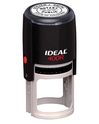 Ideal 400r (Round) Rubber Self Inking Stamp