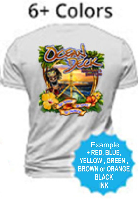 6 Color - Screen Printing / Silk Screen - Shirt Printing