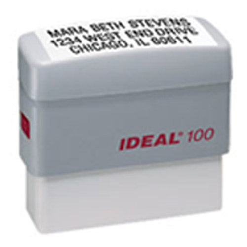 Ideal 100 Rubber Self Inking Stamp