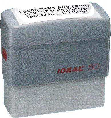 Ideal 50 Rubber Self Inking Stamp