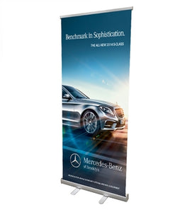 Retractable banner 33x81
