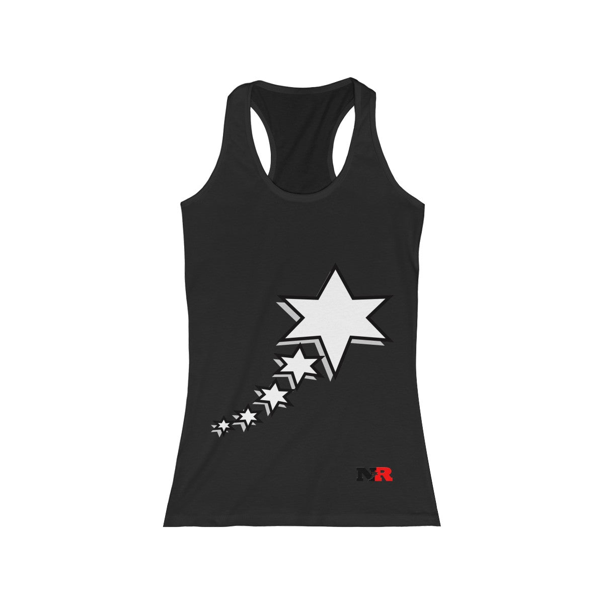 Women's Racerback Tank - 6 Points 5 Stars (White)