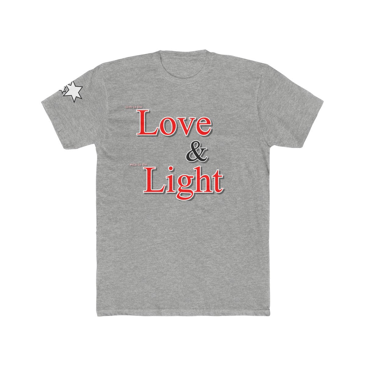 Men's Cotton Crew Tee - Love and Light