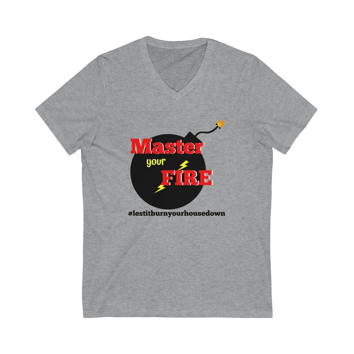 Unisex Jersey Short Sleeve V-Neck Tee - Master your Fire
