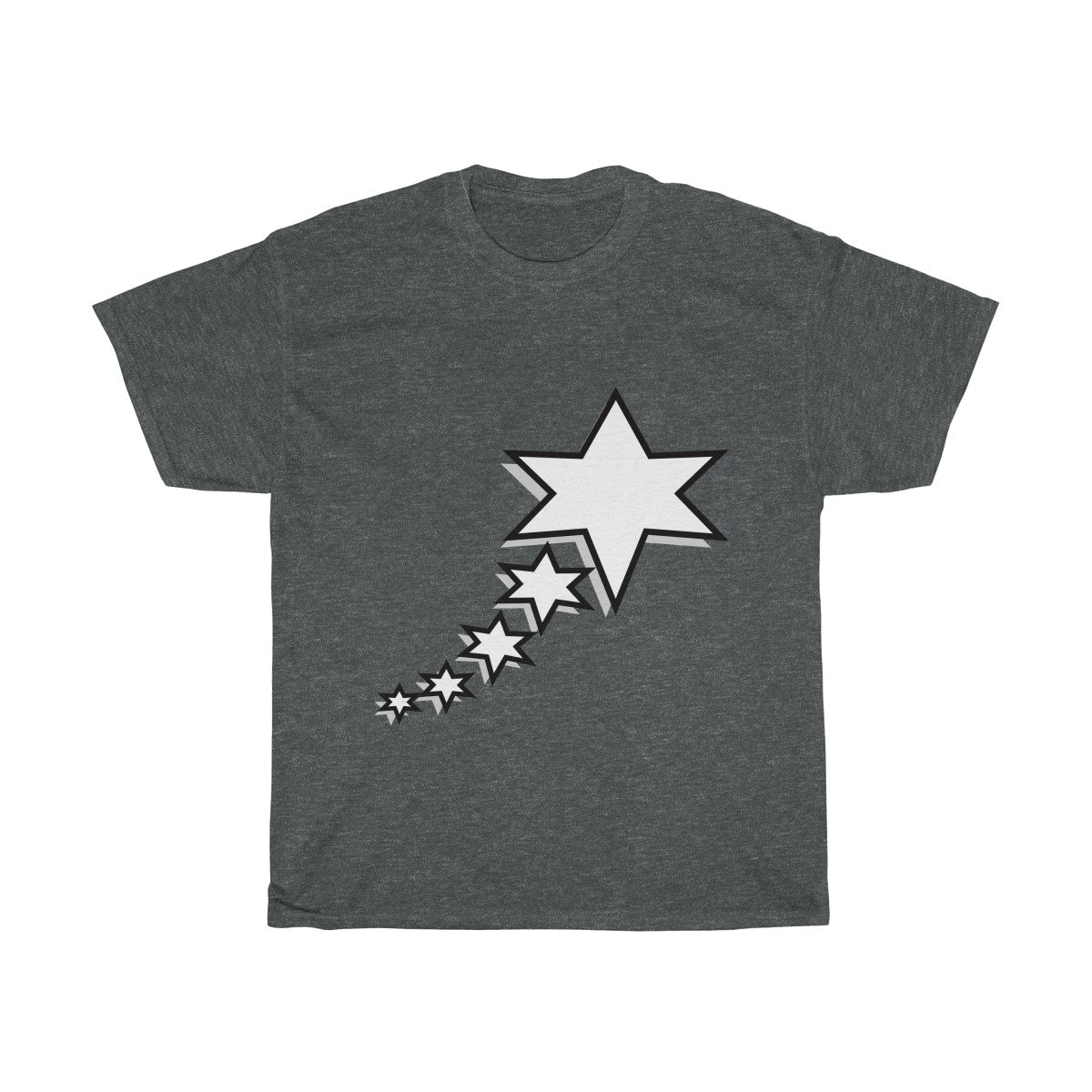 Unisex Heavy Cotton Tee - 6 Points 5 Stars (White)