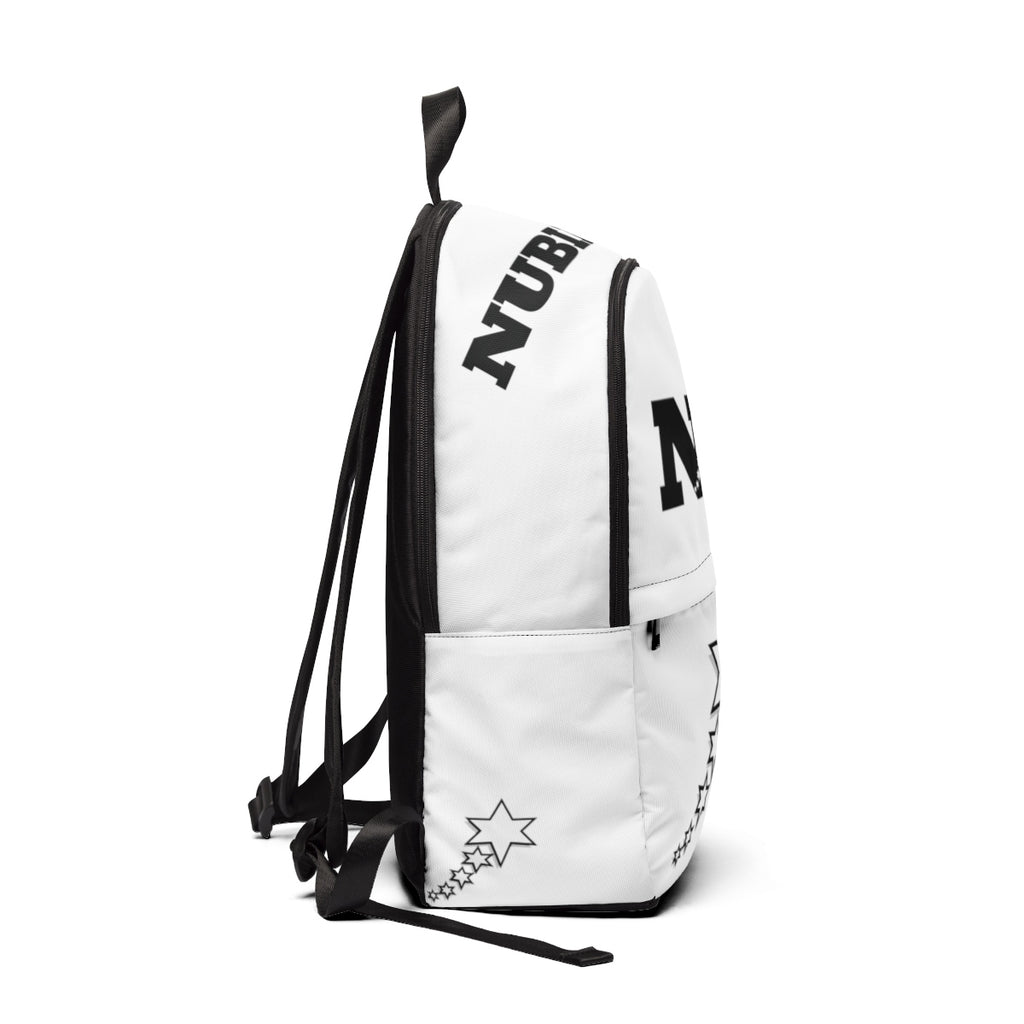 Unisex Fabric Backpack - 6 Points 5 Stars (White)