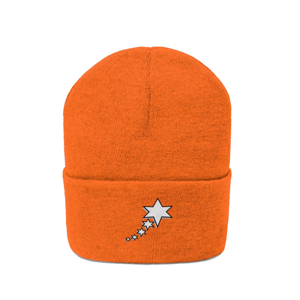 Knit Beanie - 6 Point 5 Stars (White)