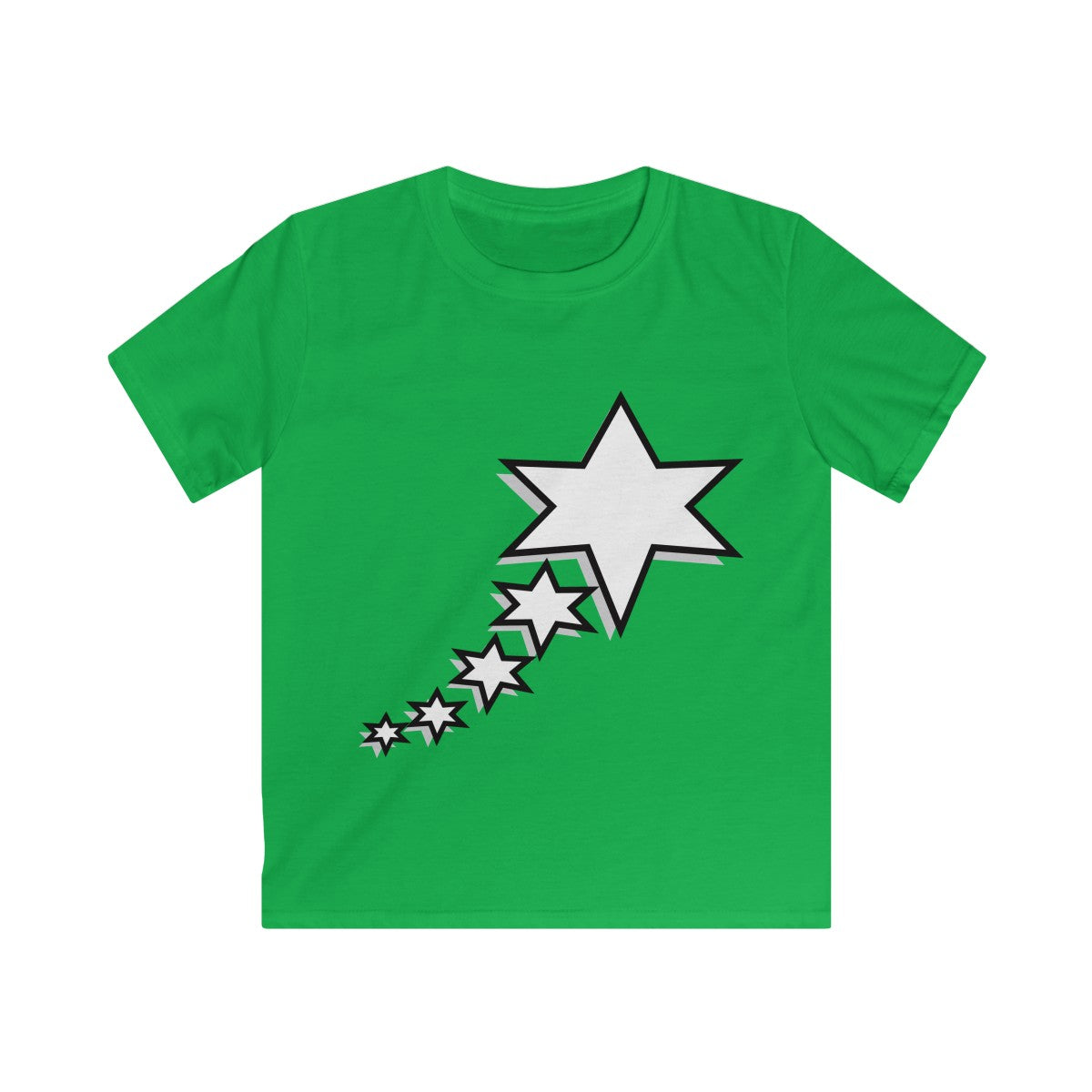 Kids Softstyle Tee - 6 Points 5 Stars (White)