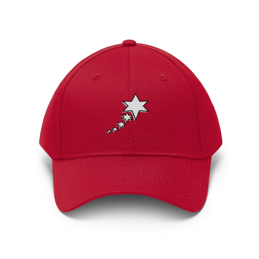 Unisex Twill Hat - 6 point 5 Stars (White)