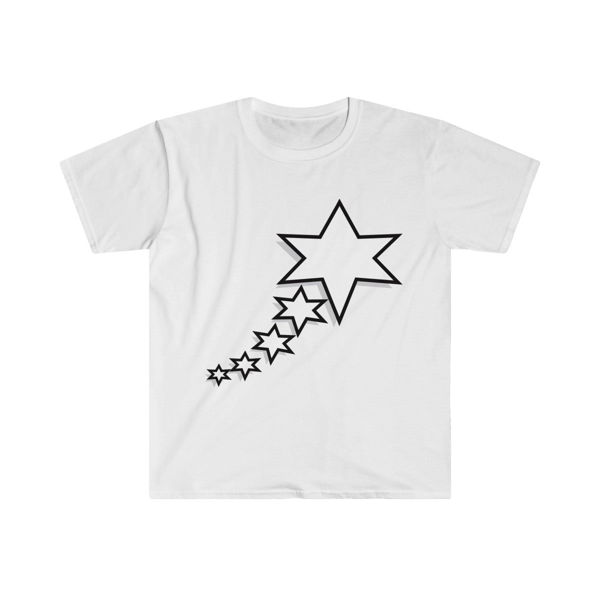 Men's Fitted Short Sleeve Tee - 6 Points 5 Stars (White)