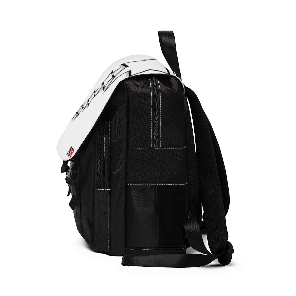Unisex Casual Shoulder Backpack - 6 Points 5 Stars (White)