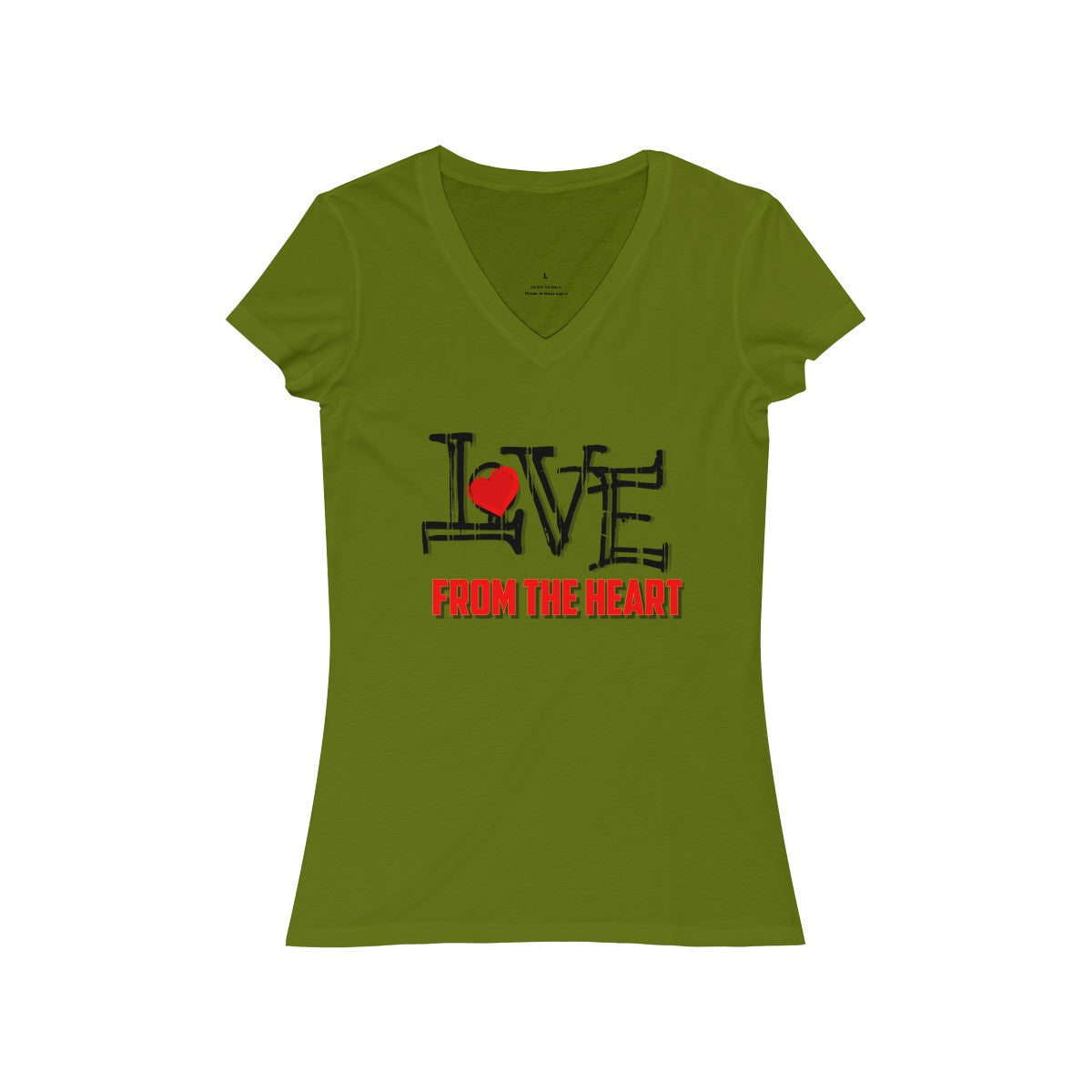 Women's Jersey Short Sleeve V-Neck Tee - Love From the Heart
