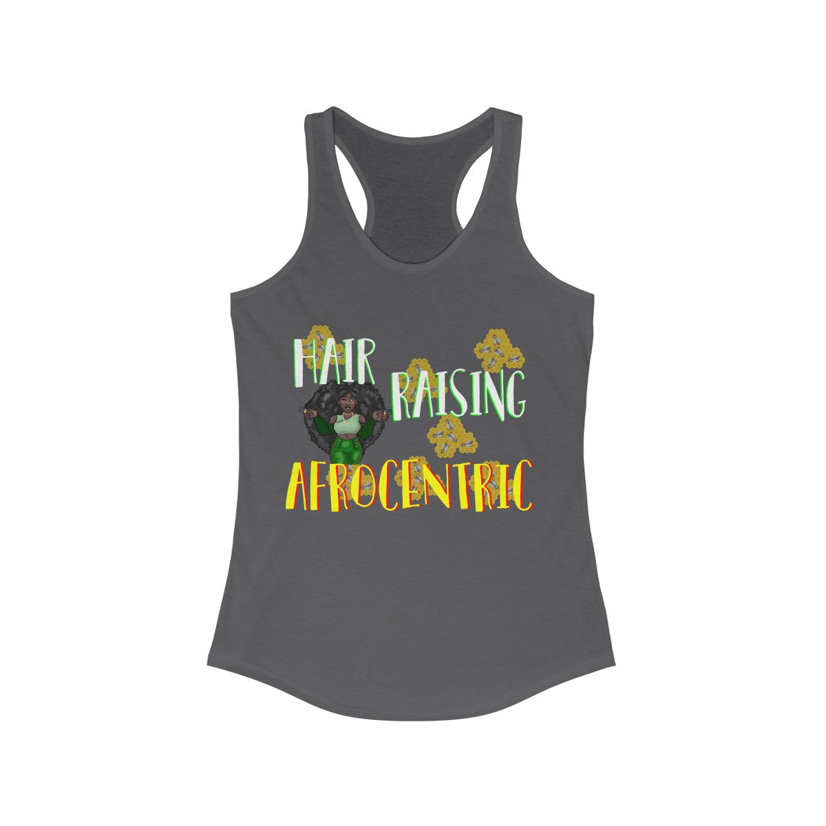 Women's Ideal Racerback Tank - Hair Raising Afro