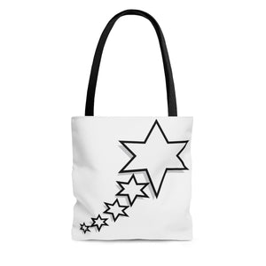 AOP Tote Bag - 6 Points 5 Stars (White)