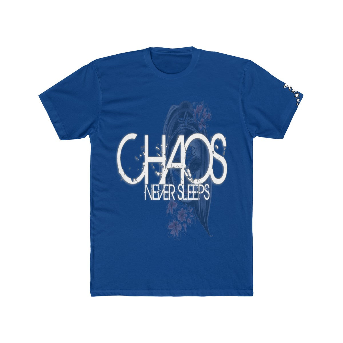 Men's Cotton Crew Tee- Chaos Never Sleeps