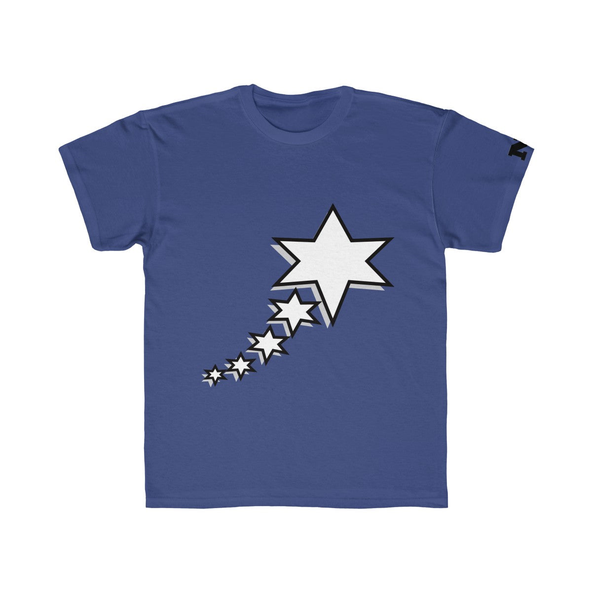 Kids Regular Fit Tee - 6 Points 5 Stars (White)