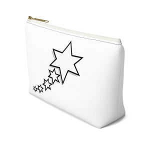 Accessory Pouch w T-bottom - 6 Points 5 Stars (White)