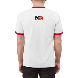 Unisex Ringer Tee - 6 Points 5 Stars (White)
