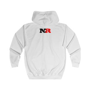 Unisex Full Zip Hoodie - 6 Points 5 Stars (White)