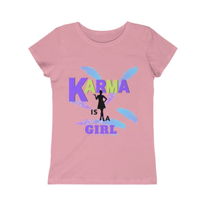 Girls Princess Tee - KARMA IS A GIRL