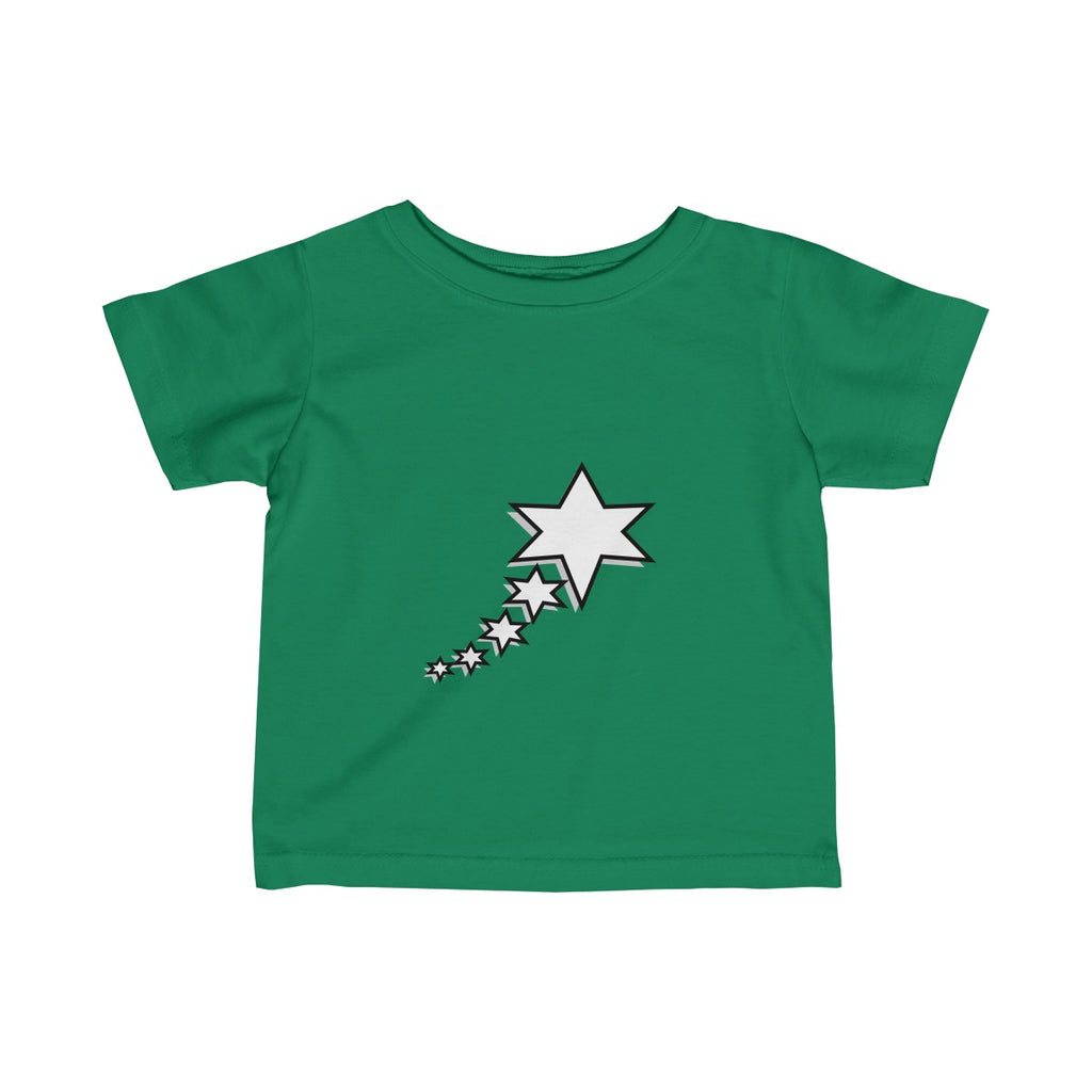 Infant Fine Jersey Tee - 6 Points 5 Stars (White)