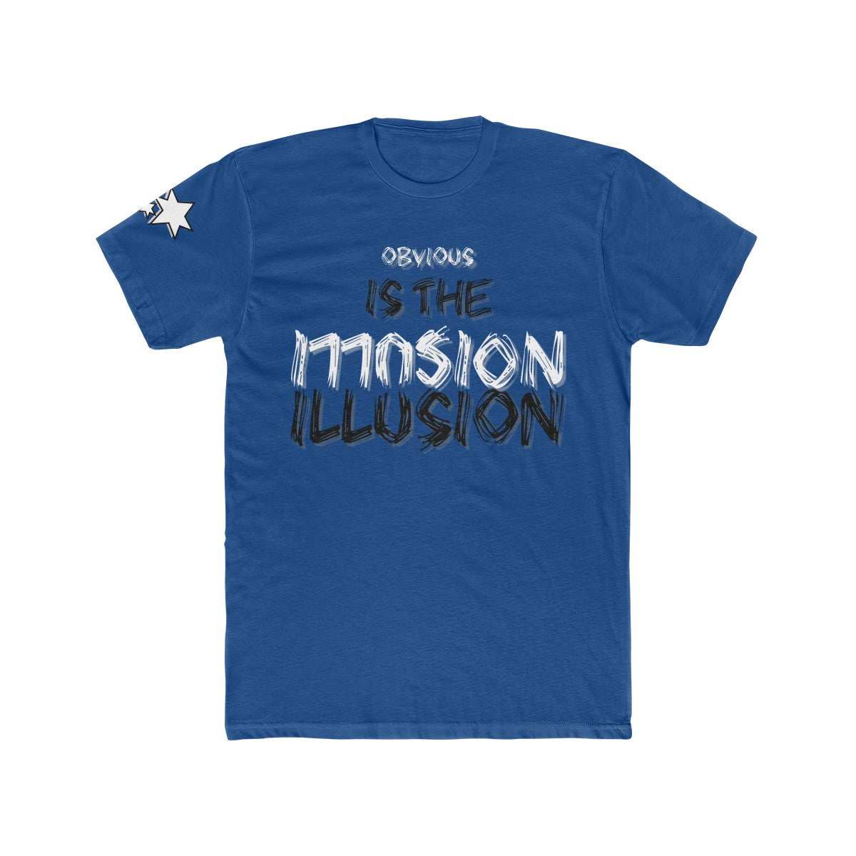 Men's Cotton Crew Tee - Obvious is the Illusion