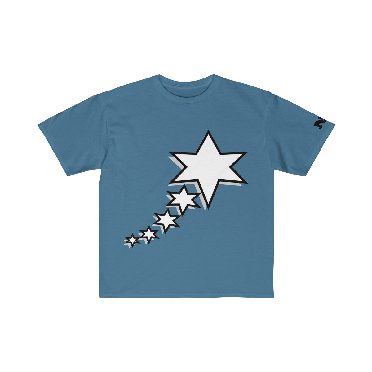 Kids Retail Fit Tee - 6 Points 5 Stars (White)