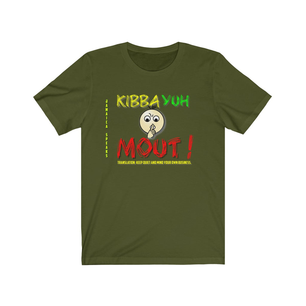Unisex Jersey Short Sleeve Tee - Jamaica Speaks (Kibba Yuh Mouth)
