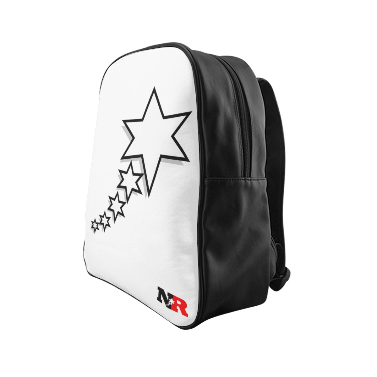 School Backpack - 6 Points 5 Stars (White)