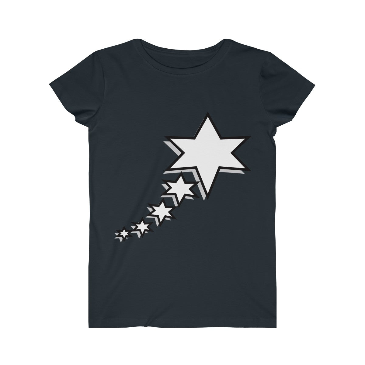 Women's Fine Jersey Tee - 6 Points 5 Stars (White)